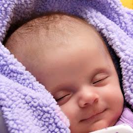 Sweet Dreams by Luanne Bullard Everden - Babies & Children Babies ( girls, babies, purple, grandchildren, children, infants, smiles )