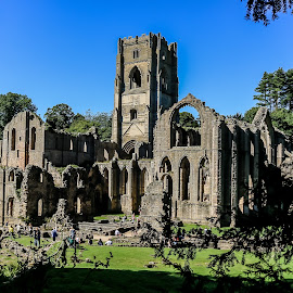 Fountains Abbey  by Mandy Hedley - Buildings & Architecture Public & Historical ( fountains, ruins, national trust, ripon, abbey )