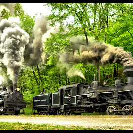 Steam Locomotives by James Eickman - Transportation Trains