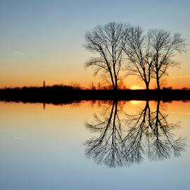 Sunset at magic lake Lajmir.. by Željko Salai - Landscapes Sunsets & Sunrises