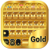 Gold Emoji Keyboard Theme