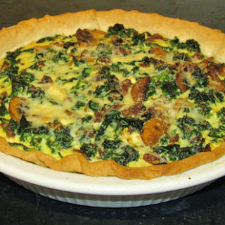 Sausage, Kale and Mushroom Quiche
