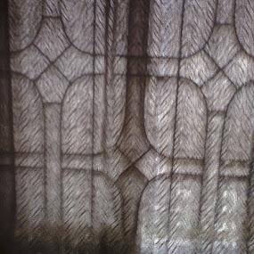 a grill silhouette by Jayita Mallik - Digital Art Things ( face, corner, grill, darken, angle, beneath )