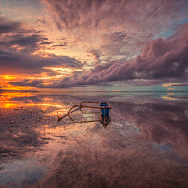 Cloudy Morning by Om Kas - Landscapes Sunsets & Sunrises