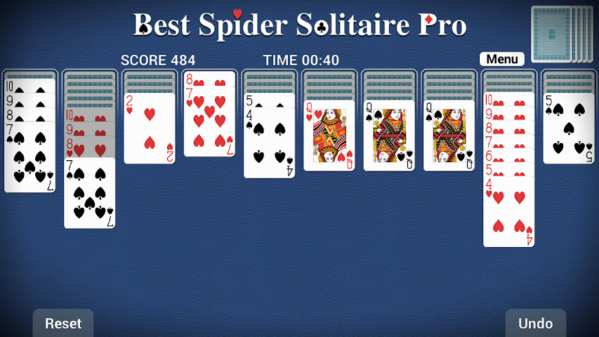 android Best Spider Solitaire Pro Screenshot 0