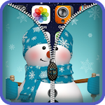 Snowman Zipper Lock Screen HD Icon