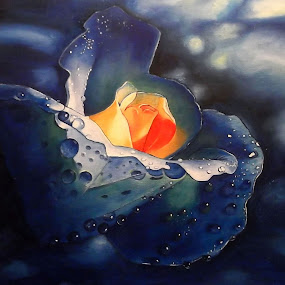 Fire and water by Kinga Fekete Kormos - Painting All Painting ( oil on canvas )