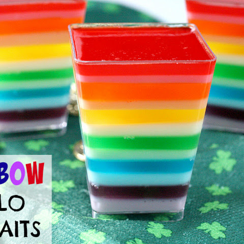 RAINBOW JELLO PARFAITS