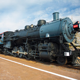 Engine 539 Grand Canyon by Rich Gill - Transportation Trains ( rich amen gill, train engine, arizona, canon 5d, grand canyon, rich gill )