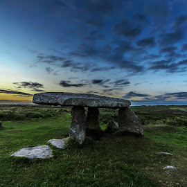 Lanyon Quoit by Mitch Featherbe - Landscapes Caves & Formations ( sunset, vista, stones, landscape )