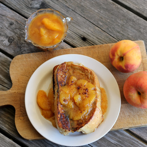 Spiced French Toast with Peach Compote
