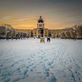 Wascana Park by Garces & Garces - City,  Street & Park  City Parks ( winter, cold, canada, saskatchewan, snow, prairies, weather, sunrise, regina )