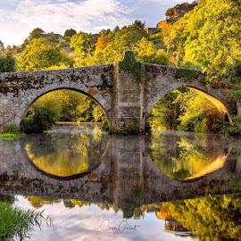 Bridge in Allariz by Cesar Crusat - Buildings & Architecture Bridges & Suspended Structures ( #bridge #allariz #sunrise #galicia #ourense #spain #landscape #cityscape #travel )