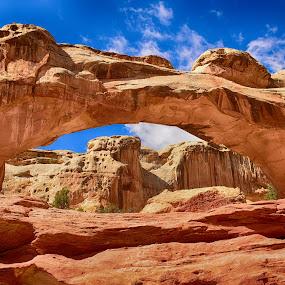 Hickman Bridge by Gosha L - Landscapes Caves & Formations ( adventure, bridge, travel, rock formation, landscapes,  )