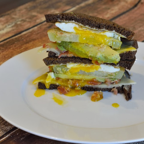 Whistle Stop Sandwich (Fried Green Tomato, Bacon, Avocado, Fried Egg and Cheddar Sandwich)