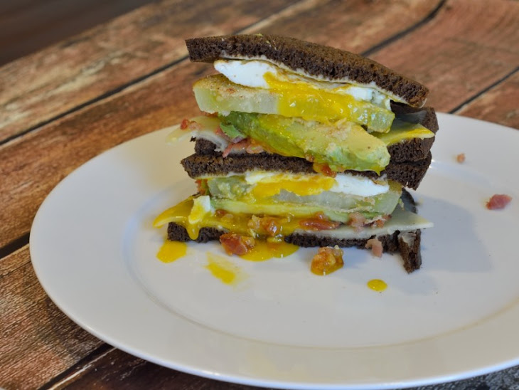 ... Sandwich (Fried Green Tomato, Bacon, Avocado, Fried Egg and Cheddar