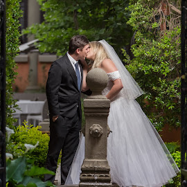 by Lodewyk W Goosen (LWG Photo) - Wedding Bride & Groom ( love, kiss, wedding photography, wedding day )