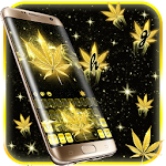 Golden Weed Rasta Shiny Keyboard Theme Icon