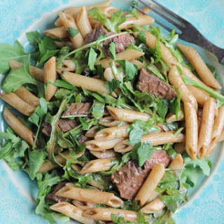 Penne Salad with Beef, Dijon and Arugula
