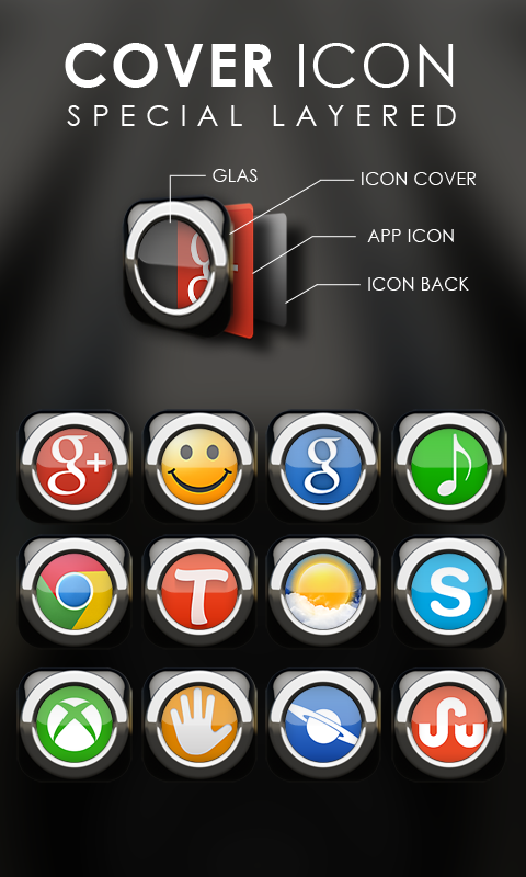 Black S Next Launcher theme Screenshot 1