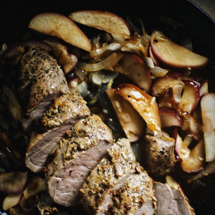 Apple and Onion Roasted Pork Tenderloin Recipe | Yummly