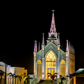 by Bill MacLachlan - Buildings & Architecture Places of Worship ( japan, night, okinawa, chapel, illumination )