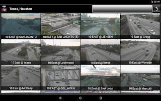 Screenshot of Cameras Texas - Traffic cams