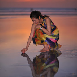 Mirror by Maidi Irvan - People Portraits of Women