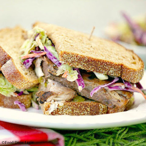 Grilled Blackened Fish Sandwich with Coleslaw