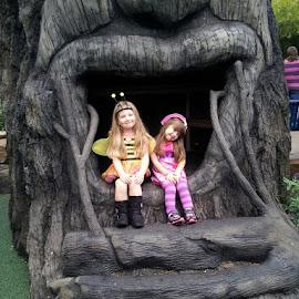 Halloween Huggables by Linda Hackney - Babies & Children Children Candids ( costumes, dress up, treehouse, botanical garden, smile, halloween,  )