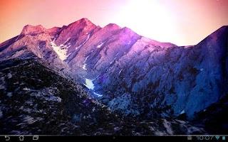 Screenshot of 3D Kitkat 4.4 Mountain lwp
