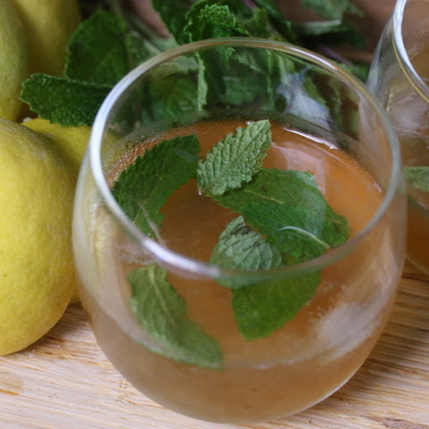 Bourbon Punch with Mint