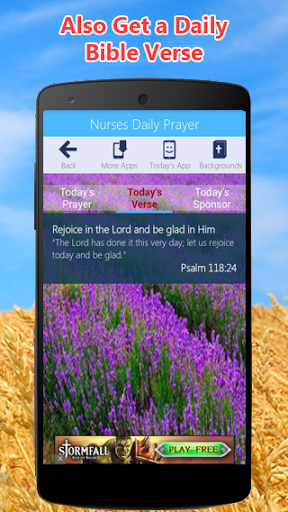 Nurse's Prayer App Screenshot