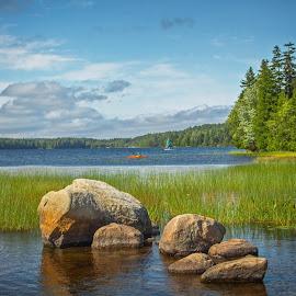 Echo Lake by Nancy Helms - Landscapes Waterscapes