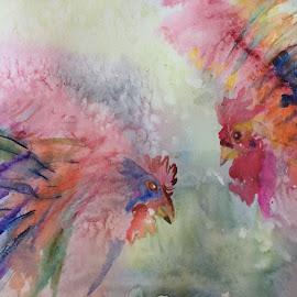 Chick'n by Jeanne Knoch - Painting All Painting