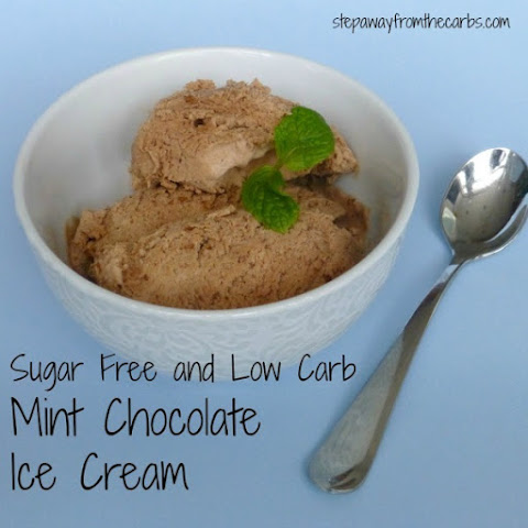 Sugar Free and Low Carb Mint Chocolate Ice Cream