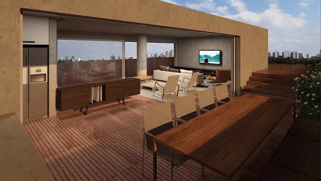 Perspectiva do Terraço da Cobertura  Duplex