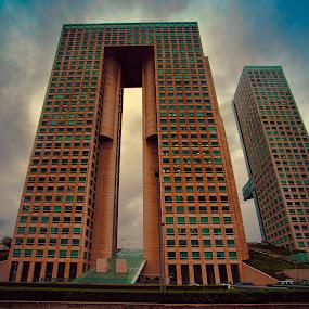 El Pantalon tower by Cristobal Garciaferro Rubio - Buildings & Architecture Office Buildings & Hotels ( mexico city, mexico, el pantalon tower, santa fe, el panatalon )