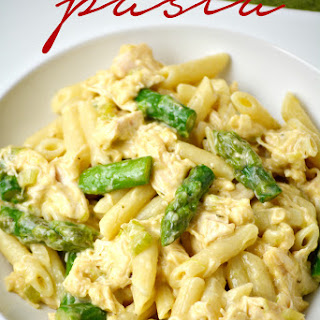 Cheesy Chicken Asparagus Pasta