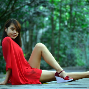 red by Enggar Rizky - People Portraits of Women