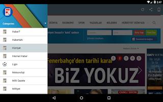 Screenshot of Gazeteler
