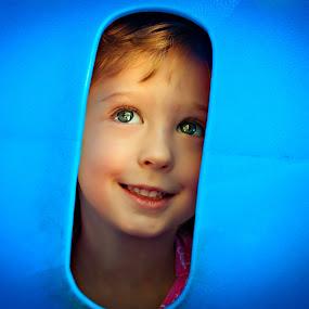 Peek a Blue by Annette Turner - Babies & Children Children Candids