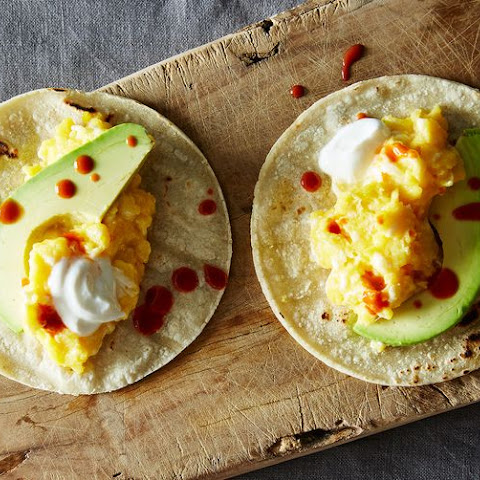 Scrambled Egg And Sausage Tacos With Avocado And Scallion Recipes ...
