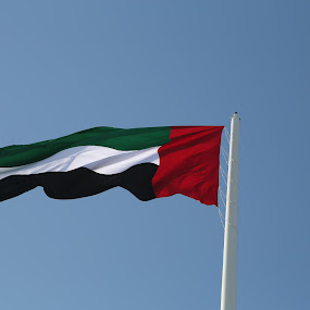 UAE National Flag by Manoj Ojha - City,  Street & Park  City Parks ( uae national flag, 7th tallest, flag island, flag, uae, emirate, sharjah, world )