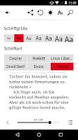 Screenshot of Hugendubel eBook Lese-App