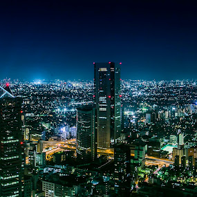 Japan Night Life by Naufal Boy - Landscapes Starscapes