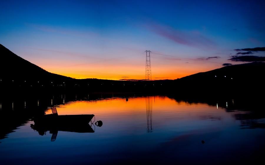 sunset in Holmen, Sortland by Benny Høynes - Landscapes Sunsets & Sunrises ( canon, mark2, bennyhøynes, sortlens, sunset, colours )