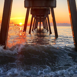 Sun kissed Wave by Etta Cox - Instagram & Mobile iPhone ( ocean pier sunlight waves beautiful florida )