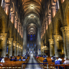 Notre Dame by Gaurav Dhup - Buildings & Architecture Places of Worship ( paris, church, hdr, notre dame, cathedral, worship )