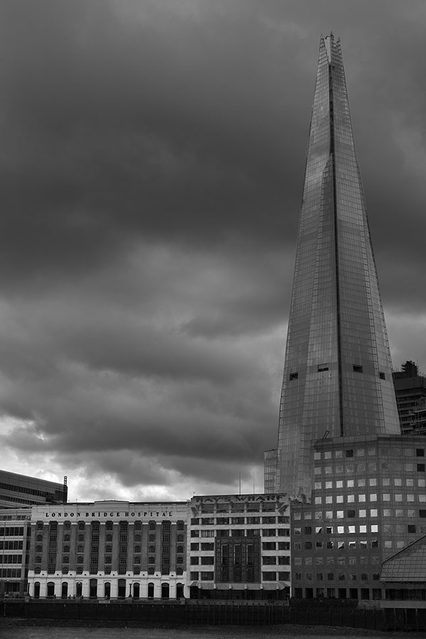 by Kev Bates - City,  Street & Park  Skylines ( stormy, skyline, b&w, shard, london, city )